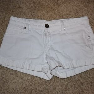 BCBG Maxazria White Denim Shorts